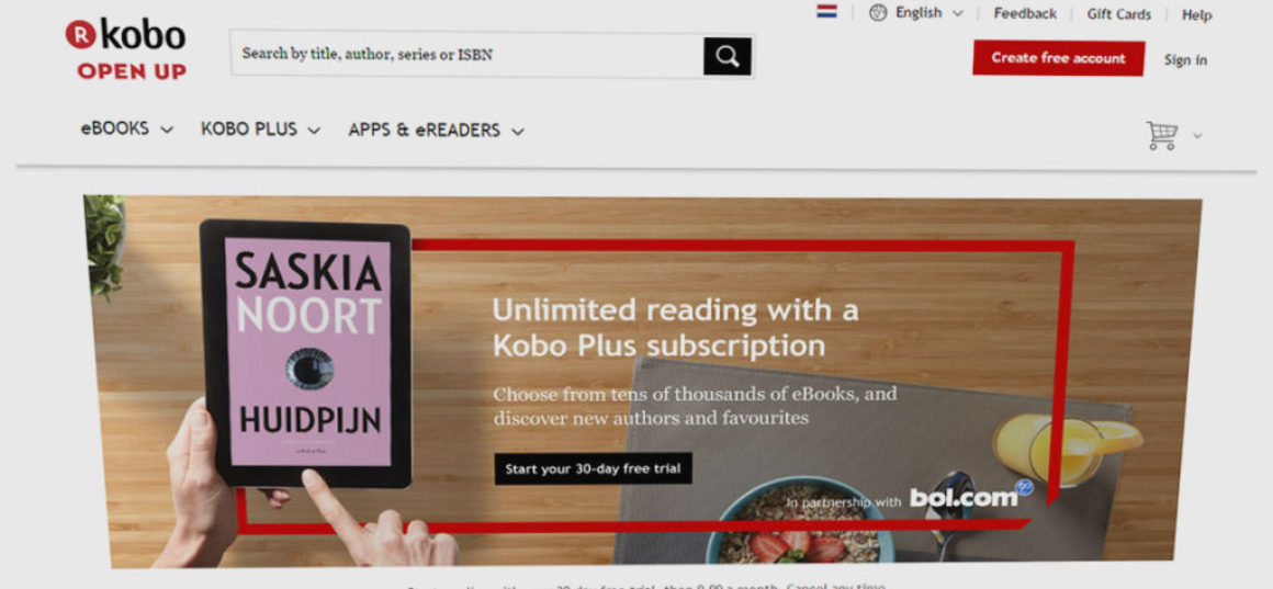 Kobo lanserar prenumerationstjänst för eböcker i Holland