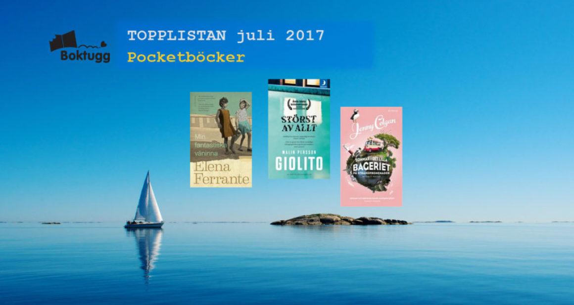Topplistan Juli 2017 – Mest sålda böckerna i Sverige – Pocket
