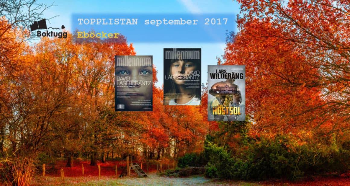 Topplistan September 2017 – De 20 mest sålda böckerna i Sverige – Eböcker
