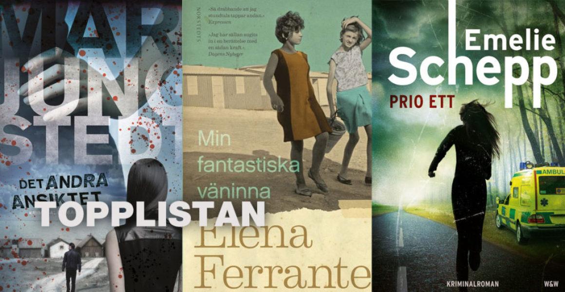 Topplistan v 20: Mest sålda skönlitterära böckerna 16-22 maj 2016