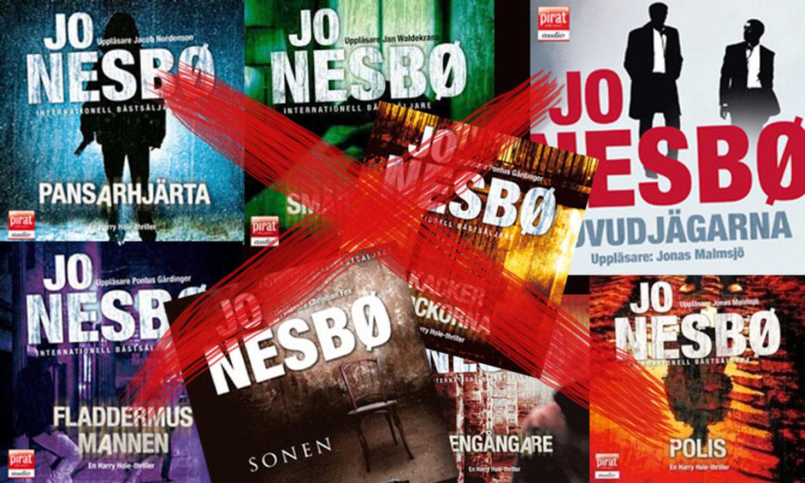 Ljudböcker och e-böcker av Jo Nesbø borttagna från Storytel