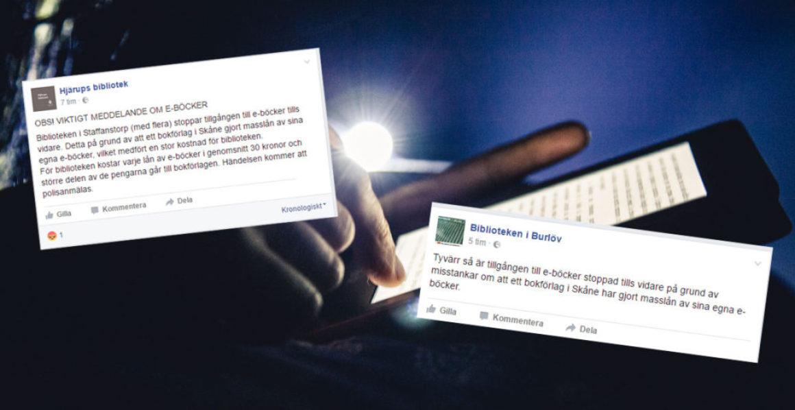 Skånska biblioteken polisanmäler Frondörförlaget för bedrägeri i ebokshärvan
