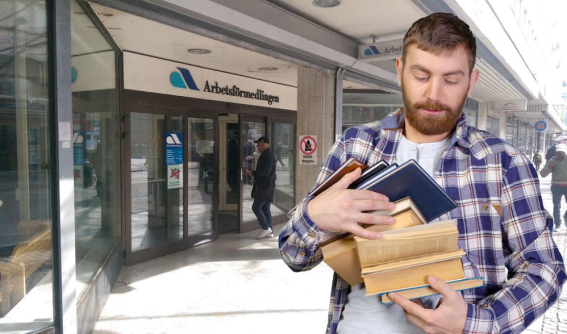 Nya regler på AF tvingar arbetslösa att läsa minst en bok i veckan