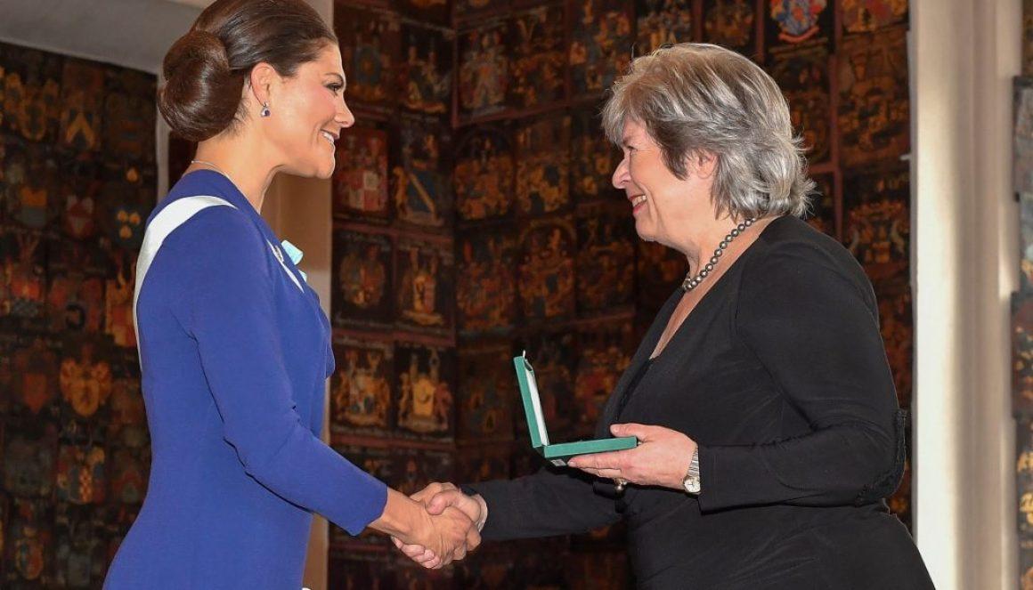 Kunglig medalj till Ann-Marie Skarp på Piratförlaget