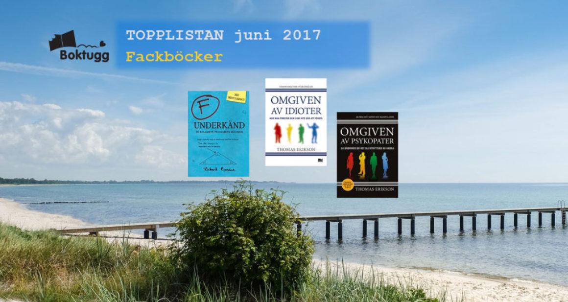 Topplistan juni 2017: Mest sålda böckerna i Sverige – Facklitteratur