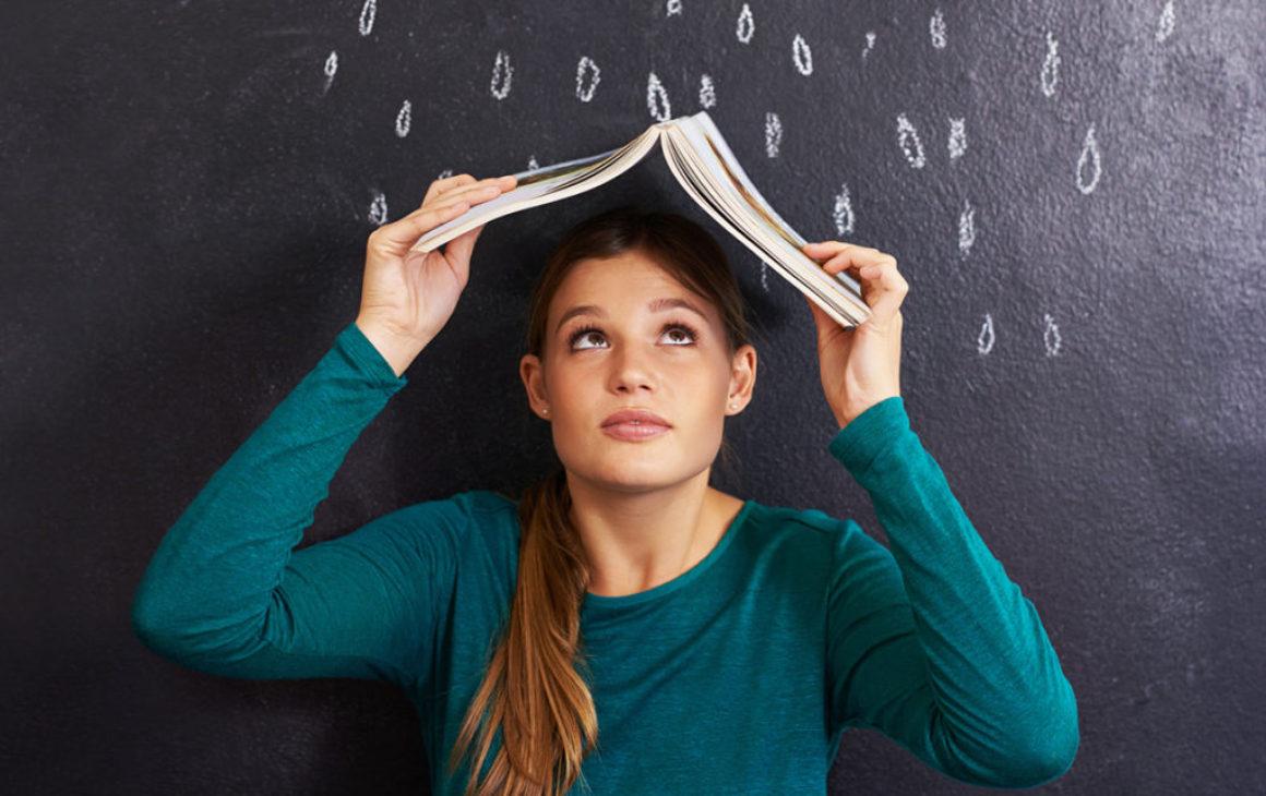 Ett lagom sommarregn är bäst för bokhandeln