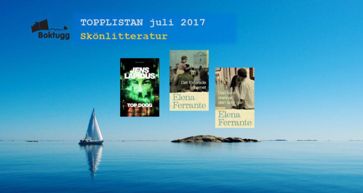 Topplistan Juli 2017 – De 20 mest sålda böckerna i Sverige – Skönlitteratur