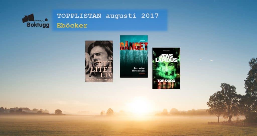 Topplista mest sålda eböckerna augusti 2017