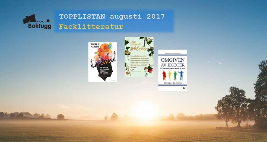 Topplista mest sålda fackböckerna i Sverige augusti 2017