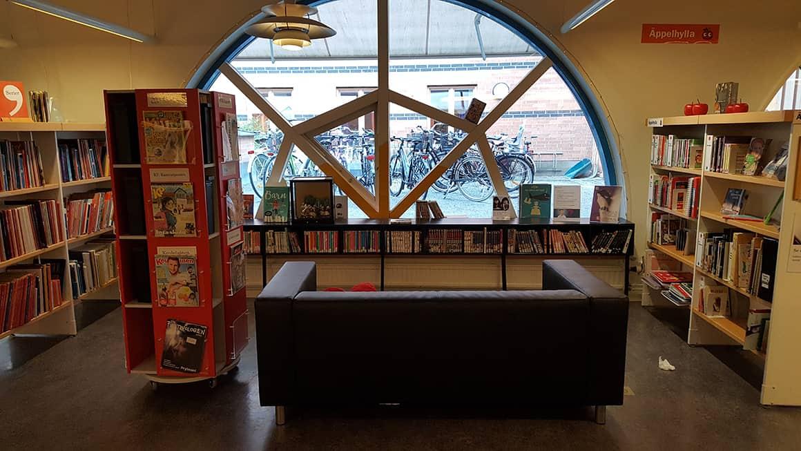 Barnavdelningen på Uppsala Stadsbibliotek Foto: Biblioteket