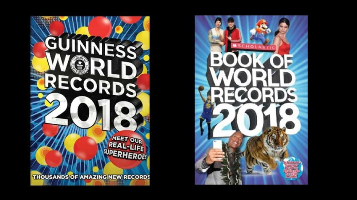 Lika som bär? Eller rekordlika omslag. Guinnes World Records 2018 och Scholastic Book of World Records 2018.