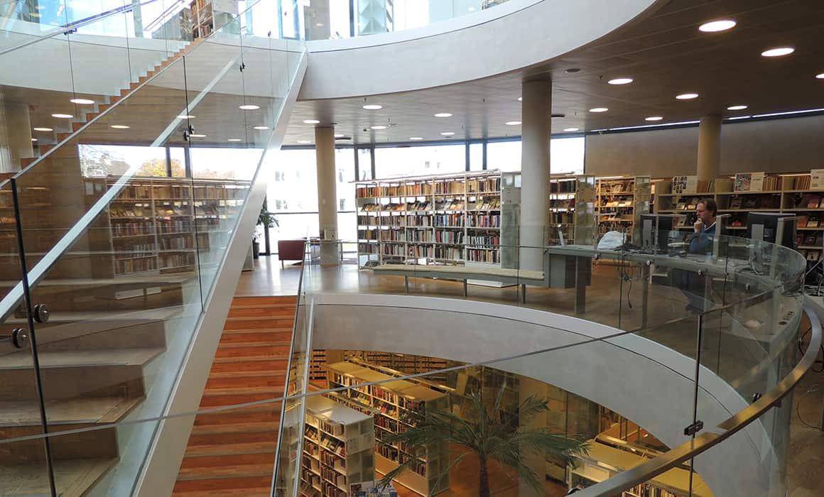 Insidan av Växjö Stadsbibliotek