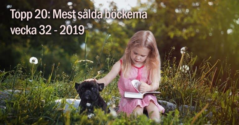 Topplista – vecka 32 2019: De mest sålda böckerna i Sverige