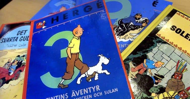Originalteckning ur Tintin-serie såld för fyra miljoner kr