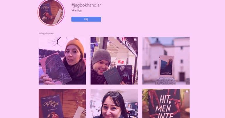 Författare och Bookstagrammers vill stötta lokala bokhandeln med #jagbokhandlar