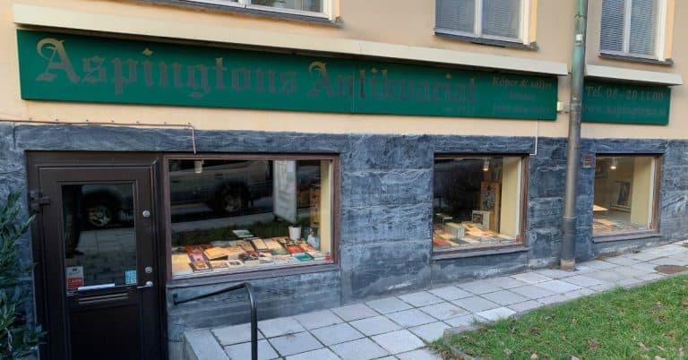 Aspingtons antikvariat i Stockholm stänger efter 106 år