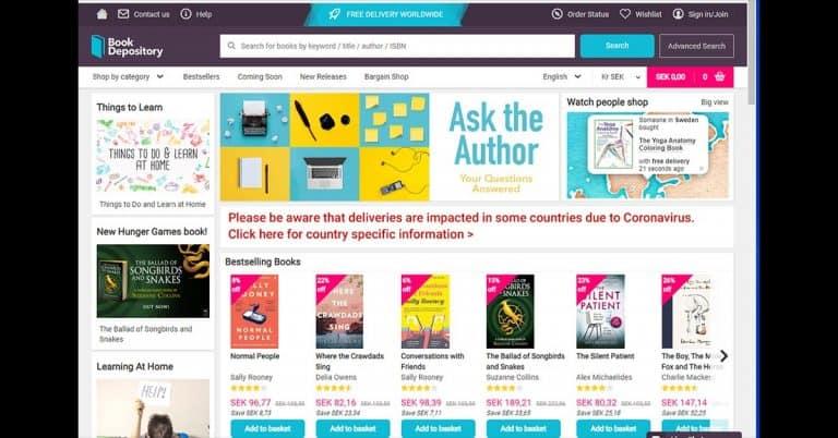 Book Depository (som ägs av Amazon) ökar sin satsning på Sverige