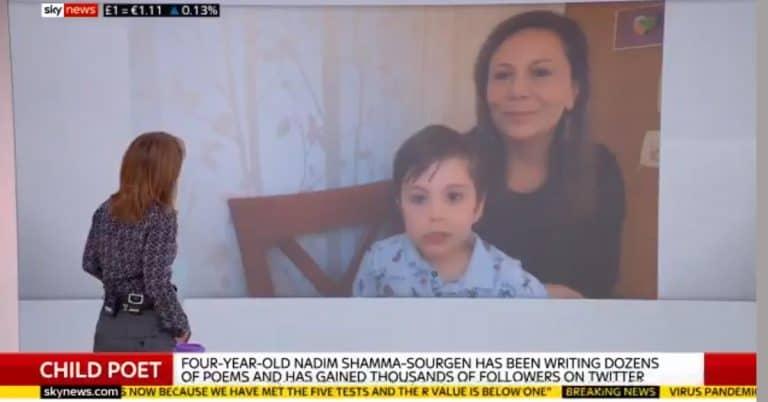 Bokförlag skriver avtal med 4-åriga poeten Nadim Shamma-Sourgen