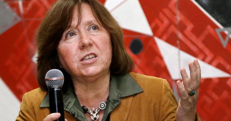 Nobelpristagaren Svetlana Aleksijevitj vädjar till diktatorn Lukasjenko: Avgå