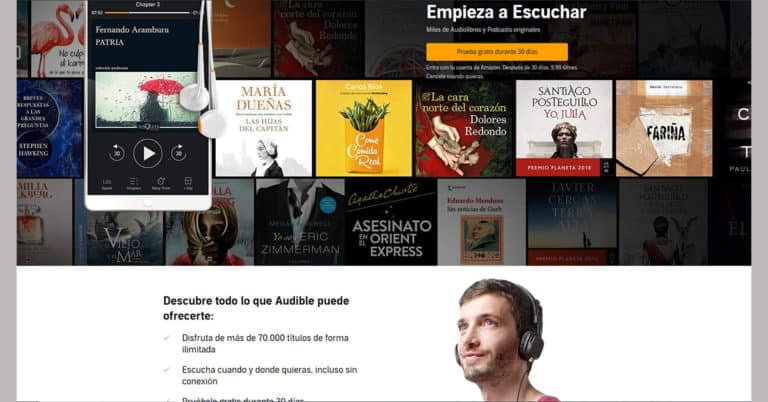 Audible går in i Spanien.