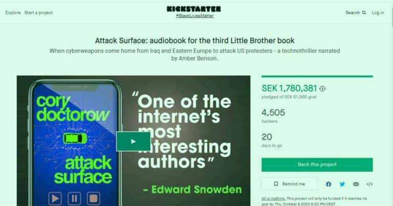 Cory Doctorow utmanar Audible med Kickstarterkampanj för sin ljudbok