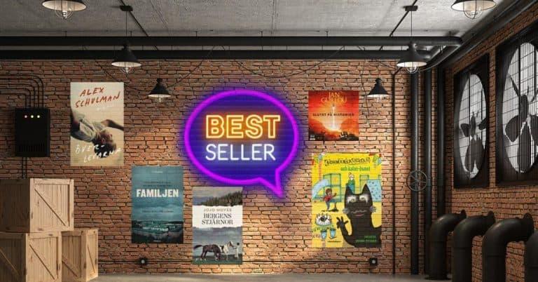 Topplista – vecka 38 – 2020: De mest sålda böckerna i Sverige
