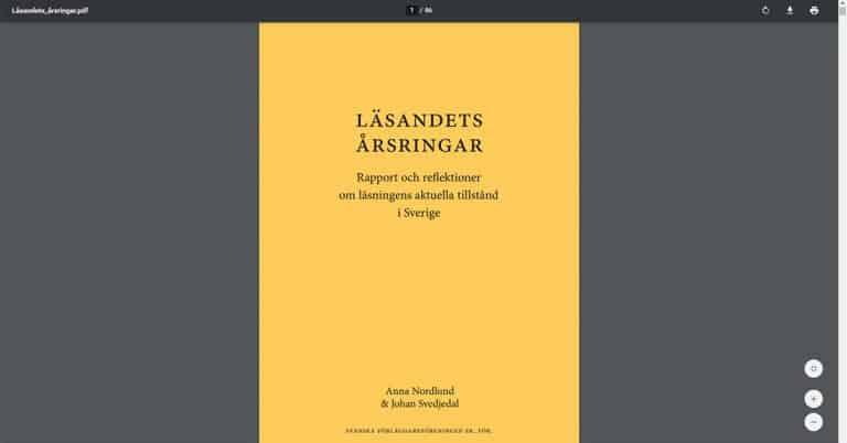 Svenska folkets läsvanor kartlagda i ny rapport över undersökningar av läsvanor.