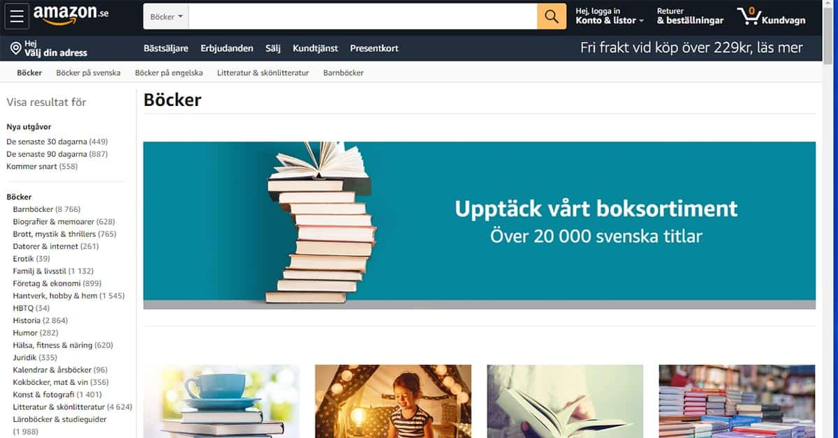 Amazon.se böcker