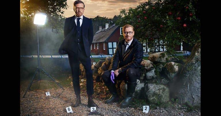 Ny skånsk författarduo: Anders de la Motte och Måns Nilsson med pusseldeckare på Österlen