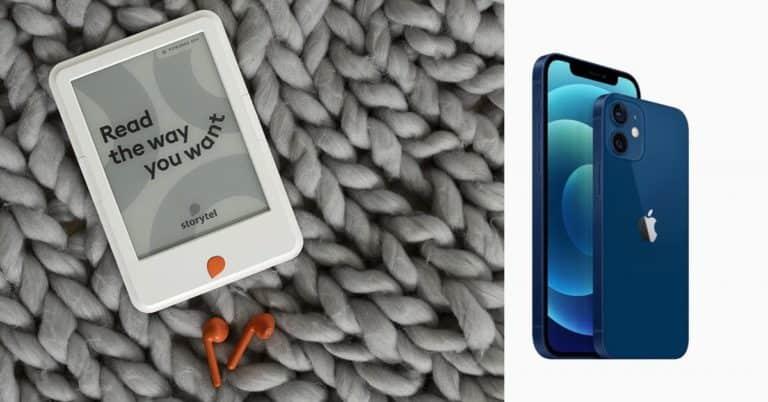 Storytel Reader 2 eller iPhone 12 – vilken skärm är bäst?