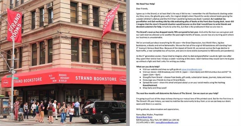 Nödrop från klassiska Strand Book Store i New York: försäljningen ner 70 % i år