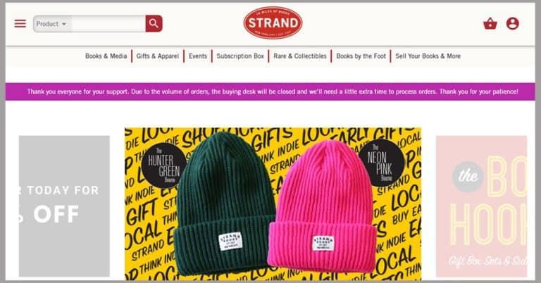 The Strands nödrop gav 25 000 beställningar i bokhandelns webbshop