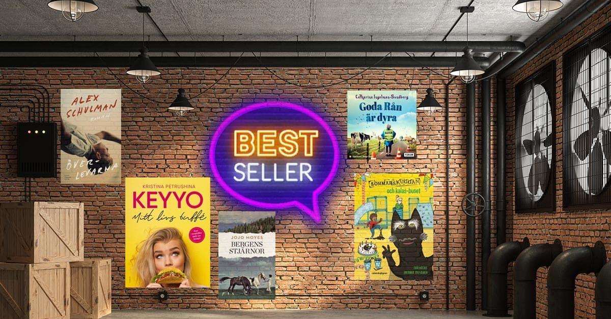 Topplista - Sveriges mest sålda böcker vecka 39-2020.