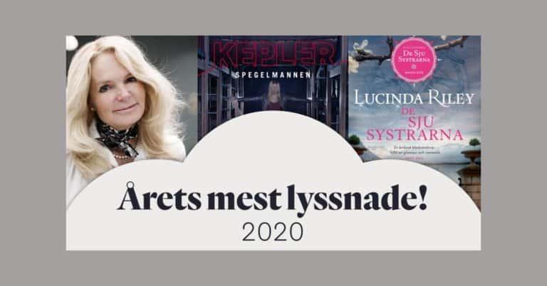 Årets mest lyssnade ljudböcker på Bookbeat 2020 – tre miljoner timmar för Leining