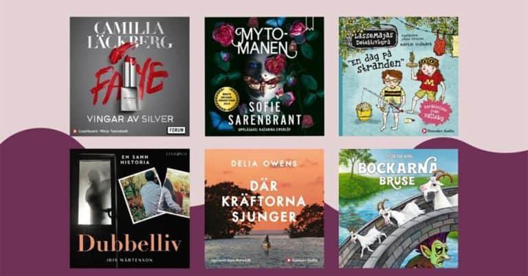 Årets mest lyssnade ljudböcker på Nextory 2020