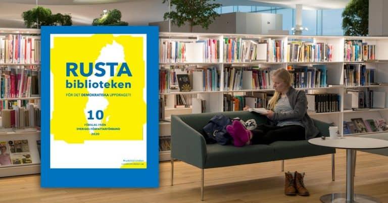 Författarförbundet med 10 konkreta förslag: Inför litterära chefer på folkbiblioteken