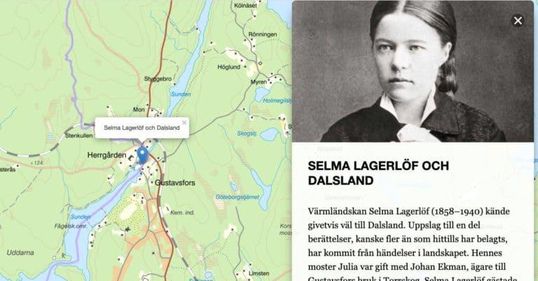 Litteraturbanken lanserar digital litteraturkarta över Västsverige