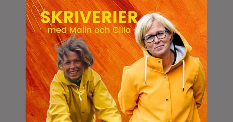 Malin och Cilla tänker skildra sin författarresa till utgivning i ny podd