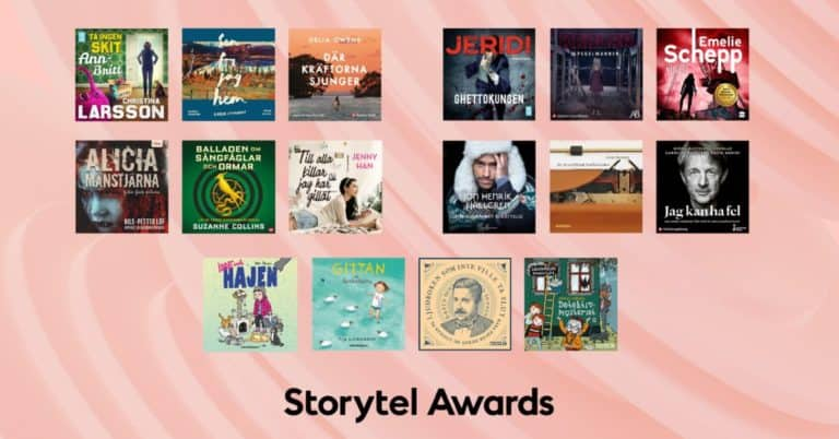 16 finalister går vidare i Storytel Awards 2021