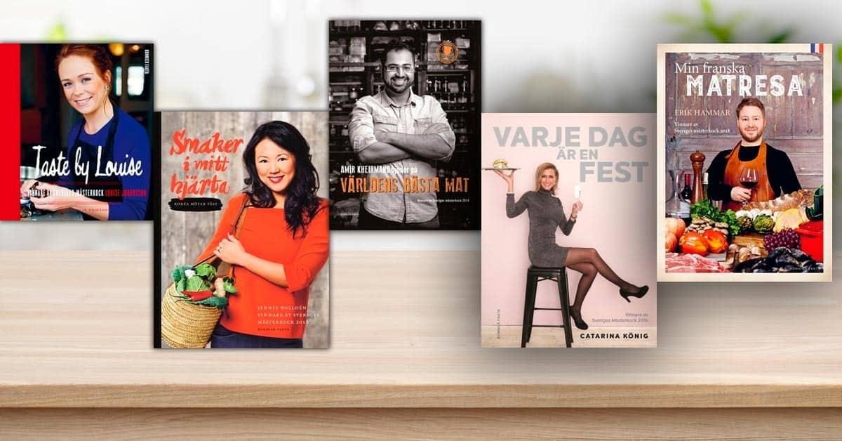 Sveriges Mästerkock alla vinnare kokböcker