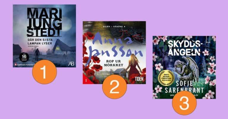 De mest lyssnade böckerna på Storytel vecka 24-2021