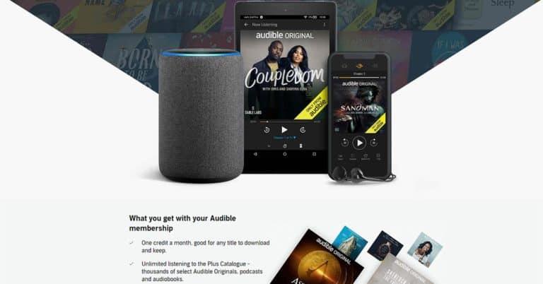Audible lanserar Premium Plus i UK – med 7500 titlar för fri lyssning