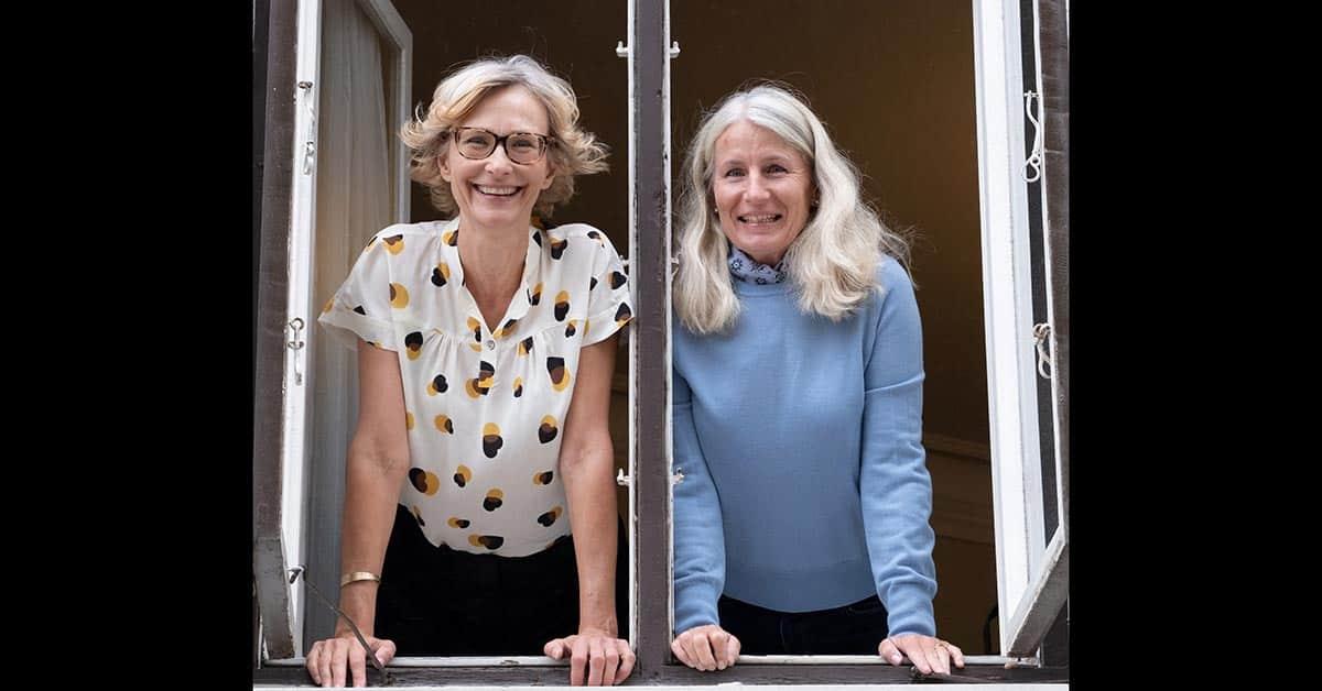 Christina Haugen, VD och Lena Amurén förlagschef på Historiska Media