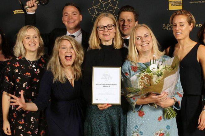 Akademibokhandeln fick jubla på Retail Awards 2019 då de tog emot pris för Årets lojalitetsprogram. Foto: Tidningen Market.