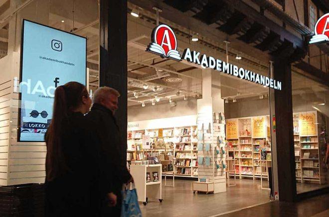 Akademibokhandeln på Väla köpcentrum utanför Helsingborg. Foto: Boktugg.