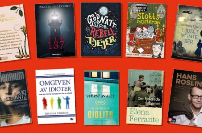 De mest populära böckerna på Akademibokhandeln under 2017.