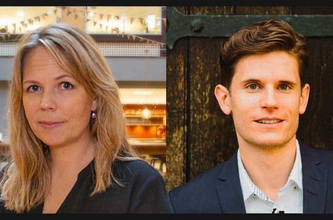 Marie Brolin, ny CIO och Niklas Hoffsten, ny CPO på Adlibrisgruppen.
