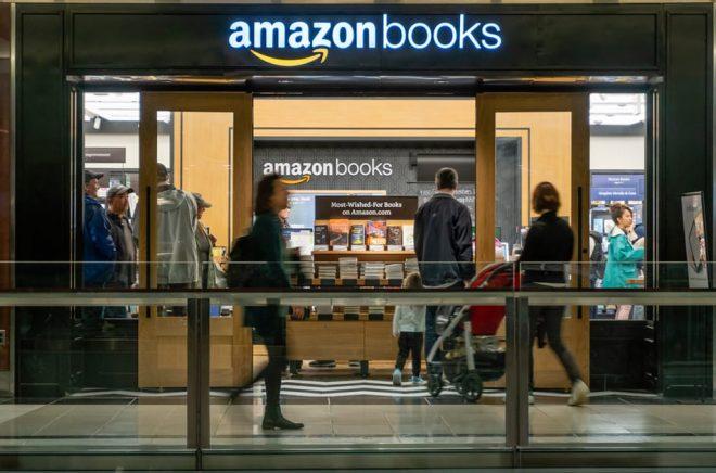 Amazon Books, en av ehandelsjättens fysiska bokhandlar, i New York. Foto: ymgerman, iStock.