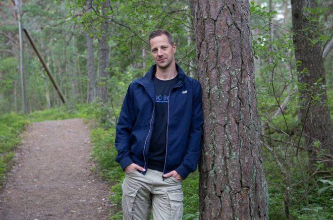 Andreas Ek, författare och polis. Foto: Bee Thalin