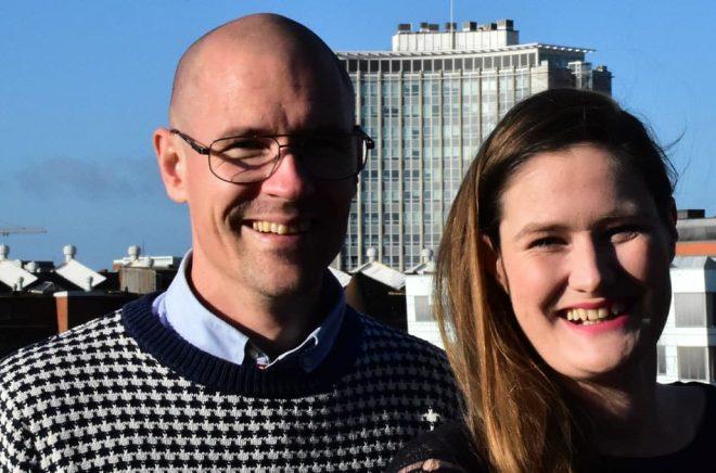 Andreas Jansson och Johanna Forsman driver Malmöbaserade Velodrom AB – företaget bakom appen StoryTourist. Foto: Vibeke Specht